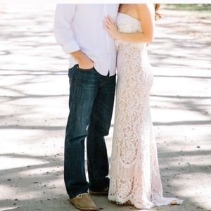 Lace Maxi Engagement/Bridal Dress